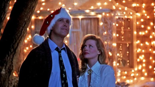"Chevy Chase e Beverly D'Angelo em ""Que Paródia de Natal"" (National Lampoon's Christmas Vacation, 1989), de Jeremiah S. Chechik"